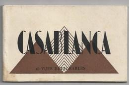 MAROC - CASABLANCA - CARNET COMPLET 20 CARTES - DONT DEPART DES CARS -  4 SCANS - RENSEIGNEMENTS  EN SUS SUR DEMANDE - Casablanca