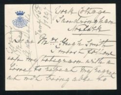LETTER PRINCESS MARY ADELAIDE MOTHER OF QUEEN MARY WIFE OF KING GEORGE V - Other Collections