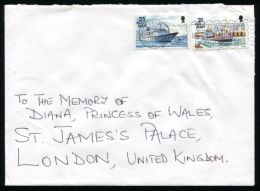 PRINCESS DIANA ST.JAMES PALACE ISLE OF MAN 1997 - Marcofilie