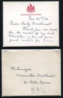 KING GEORGE 5TH AUTOGRAPH LETTER 1926 BUCKINGHAM PALACE - Other Collections