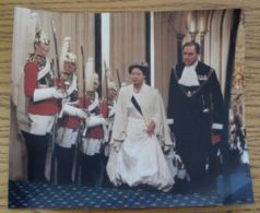 PRESS PHOTO PRINCESS MARGARET STATE OPENING OF PARLIAMENT HOUSE OF LORDS 198 - Famous People