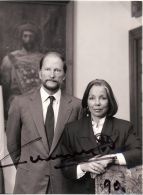 SIGNED PHOTO BY DALDA OF TSAR KING SIMEON II OF BULARIA & WIFE 1990 - Unclassified