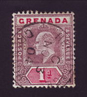 GRENADA EDWARD 7TH EARLY VILLAGE POSTMARK HERMITAGE - Grenada (...-1974)