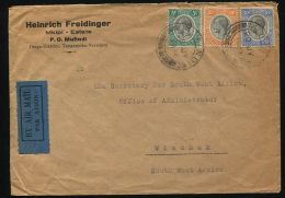 TANGANYIKA MUFINDI AIR MAIL SOUTH WEST AFRICA DOUBLE FLIGHT 1934 - Unclassified