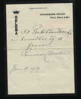 PRINCESS HELENA SCHOMBERG HOUSE SCHLESWIG HOLSTEIN QUEEN VICTORIA 1919 - Historical Documents