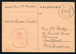 NEW ZEALAND / P.O.W/ WW2 1941 GERMANY FIELDPOST - New Zealand
