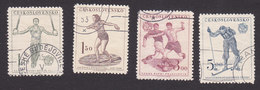 Czechoslovakia, Scott #466-469, Used, Sports, Issued, 1951
