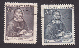 Czechoslovakia, Scott #509-510, Used, Komensky, Issued, 1952