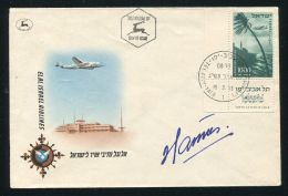 ISRAEL 1953 AIR DOUGLAS DC4 TEL AVIV JAFFA DESIGNER SIGNED - Unclassified