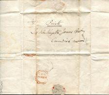 IRELAND DUBLIN 1830 MASONIC CURVED DIAGONAL DUBLIN POSTMARK - Postmark Collection