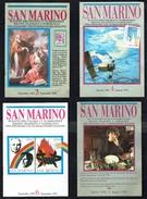SAN-MARINO - 7 Bulletins Philatéliques - Années 91 à 93. - Timbres