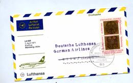 Lettre  Premier Vol Lufthansa  Nurnberg Cologne - Airplanes
