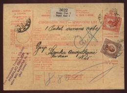 SERBIA -NOVI SAD PARCEL POST FORM - Europe (Other)
