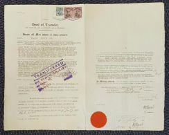 SOUTHERN RHODESIA ADMIRALS REVENUES GWELO SALISBURY TWO KING GEORGES 1928/38 - Grande-Bretagne (ex-colonies & Protectorats)