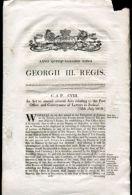 IRELAND POST OFFICE NOTICE 1819 GEORGE III - Ireland