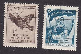 Czechoslovakia, Scott #567-568, Used, Dove, Czech Family, Issued 1953