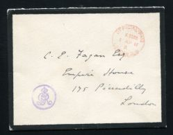 KING GEORGE V LONDON OFFICIAL PAID PURPLE CYPHER KING GEORGE V GVR - 1902-1951 (Kings)