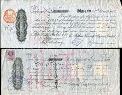 CAPE EDWARDS SEVENTH REVENUES CHEQUES GREAT BRITAIN 1907/09 - South Africa (...-1961)