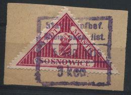 POLAND SOSNOWICE TRANGULAR STAMP 1916 WORLD WAR ONE - Poland