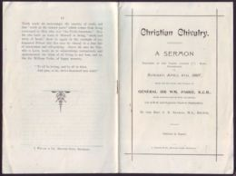 CHRISTIAN CHIVALRY A SERMON AIDE-DE-CAMP QUEEN VICTORIA GENERAL PARKE 1897 FINE - Other Collections