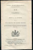 UGANDA 1909 EASTERN PROVINCE TOUR GOVERNOR BELL - Old Paper