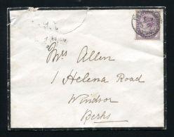 PORTSMOUTH SORTING CARRIAGE CANCELLATION CODE A COVER QUEEN VICTORIA OSBORNE - 1840-1901 (Victoria)
