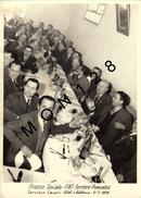 ITALIE-TURIN-FIAT FERRIERE PIEMONTESI-PRANZO SOCIALE- SERVIZIO LAVORI -VITALI A VALDOCCO-02/1956-PHOTO 18X13 CMS VOITURE - Automobiles