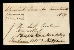 GREAT BRITAIN NORTHUMBERLAND FREE UNIFORM 4d POST 1839 - Postmark Collection