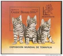 Guinee Bissau Chat : Cat   Souvenir Sheet - Hauskatzen