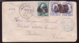 USA 1876 COVER TO BORDEAUX,FRANCE - Postal History