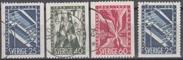 SUECIA 1953 Nº 378/80 + 378a USADO