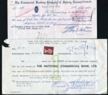HONG KONG / GB/ AUSTRALIA CHEQUES 1968/9 - Old Paper