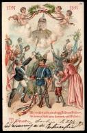 ALLEMAGNE - GRUSS AUS Berlin - Patriotique - LITHOGRAPHIE 1897 - Royal Families