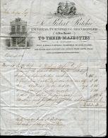 GREAT BRITAIN SCOTLAND EDINBURGH PICTORIAL LION UNICORN ROYAL IRONMONGER 1839 - 1840-1901 (Victoria)
