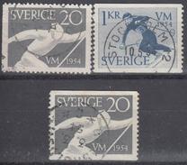 SUECIA 1954 Nº 385/86 + 385a USADO