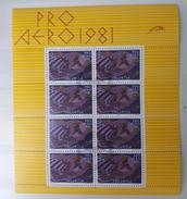 Suisse Poste Aérienne Bloc Yvert 48 Oblitéré 9.3.81