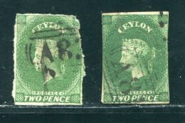 CEYLON QV VERY RARE BRITISH MAILBOAT CANCELS - Ceylon (...-1947)