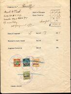 JAMAICA 1916 JUDICIAL STAMPS ST. CATHERINE COMBINATION - Jamaica (...-1961)