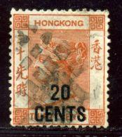 HONG KONG USED IN STRAITS SETTLEMENTS QV 20 CENTS - Hong Kong (...-1997)