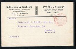 PALESTINE TEL AVIV POSTAGE PAID VERY EARLY POSTMARK 1929 - Palestina
