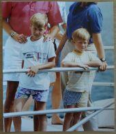 3 FINE ORIGINAL PRESS PHOTOS PRINCE WILLIAM PRINCE HARRY MAJORCA 1988/1990 - Unclassified