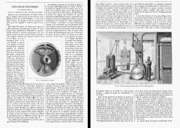 L'ECLAIRAGE ELECTRIQUE Au MUSEE GREVIN  1885 - Paris