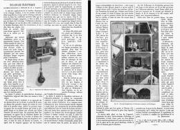 ECLAIRAGE ELECTRIQUE Allumeur-extincteur à Distance De M. A. RADIGUET  1885 - Non Classés