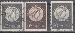 SUECIA 1954 Nº 387/88 + 387a USADO