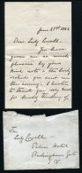 LETTER & ENVELOPE PRINCESS LOUISE MARGARET DUCHESS OF CONNAUGHT LADY COWELL - Other Collections