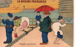 CPA Humoristique - LA MARINE FRANCAISE  Visite Du Bord - Humour