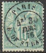 France - N°65 Oblitéré - Dents Courtes - 1876-1878 Sage (Type I)