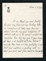 FINE LETTER & ENVELOPE GRAND DUCHESS LOUISE OF BADEN TO LADY O'CONOR 1921 - Other Collections