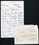 PRINCESS VICTORIA LETTER AND ENVELOPE SISTER BLACK ILLNESS KING GEORGE V 1928 - Other Collections