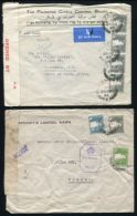 PALESTINE WORLD WAR TWO CENSOR TO SOUTH AFRICA AND INDIA - Palestine